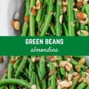 经典的法式食谱,绿豆almondine提升普通的绿豆与另外烤杏仁,黄油褐化,葱和柠檬皮的一个难忘的配菜。