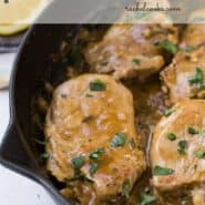 Tender and succulent seared pork medallions, with a lemony white wine sauce, are elegant enough for entertaining but easy enough to prepare for every day meals.