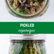 Like pickles? Make a jar of homemade pickled asparagus in about 10 minutes hands on time, no canning necessary! Try them today!
