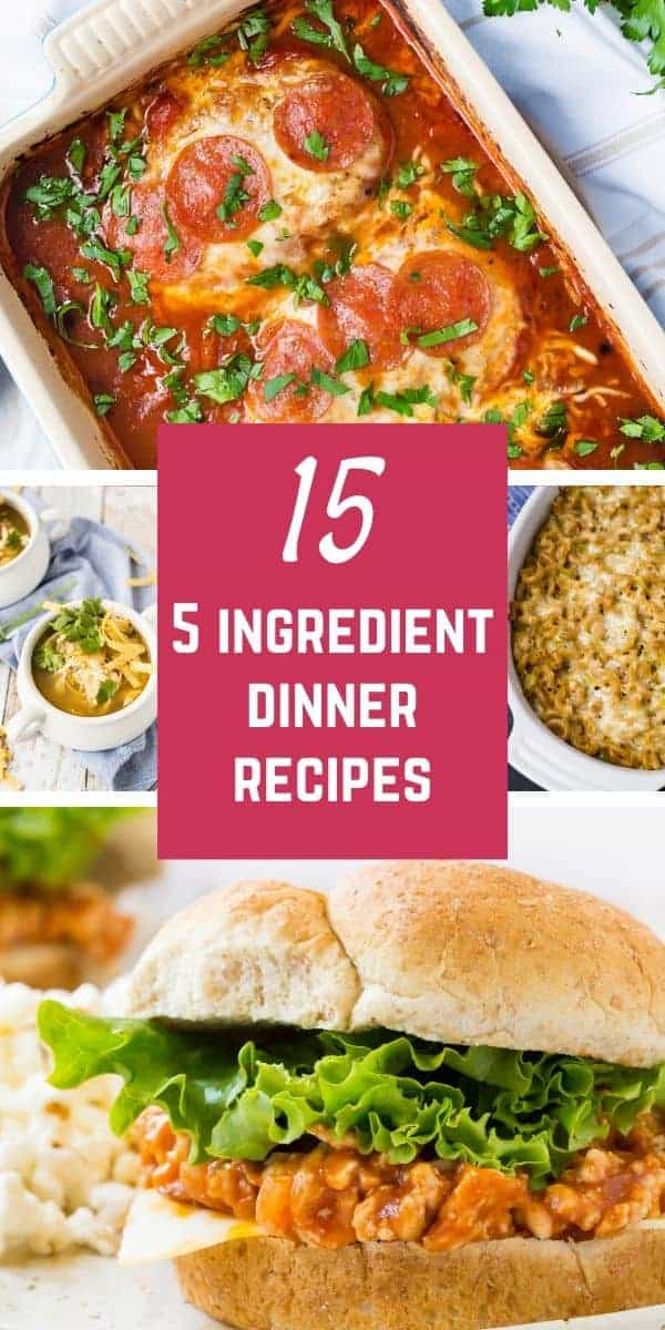 Main dish meals that are easy to prepare, these 5 ingredient dinner recipes are a lifesaver when you're busy. You won't need to fill up your grocery cart to make these recipes.