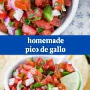 """与文本叠加阅读西红柿,洋葱和胡椒的照片拼贴""""自制微微德加洛"""""""