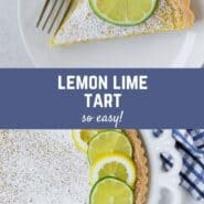 "Collage of images with a text overlay that reads ""lemon lime tart - so easy!"""
