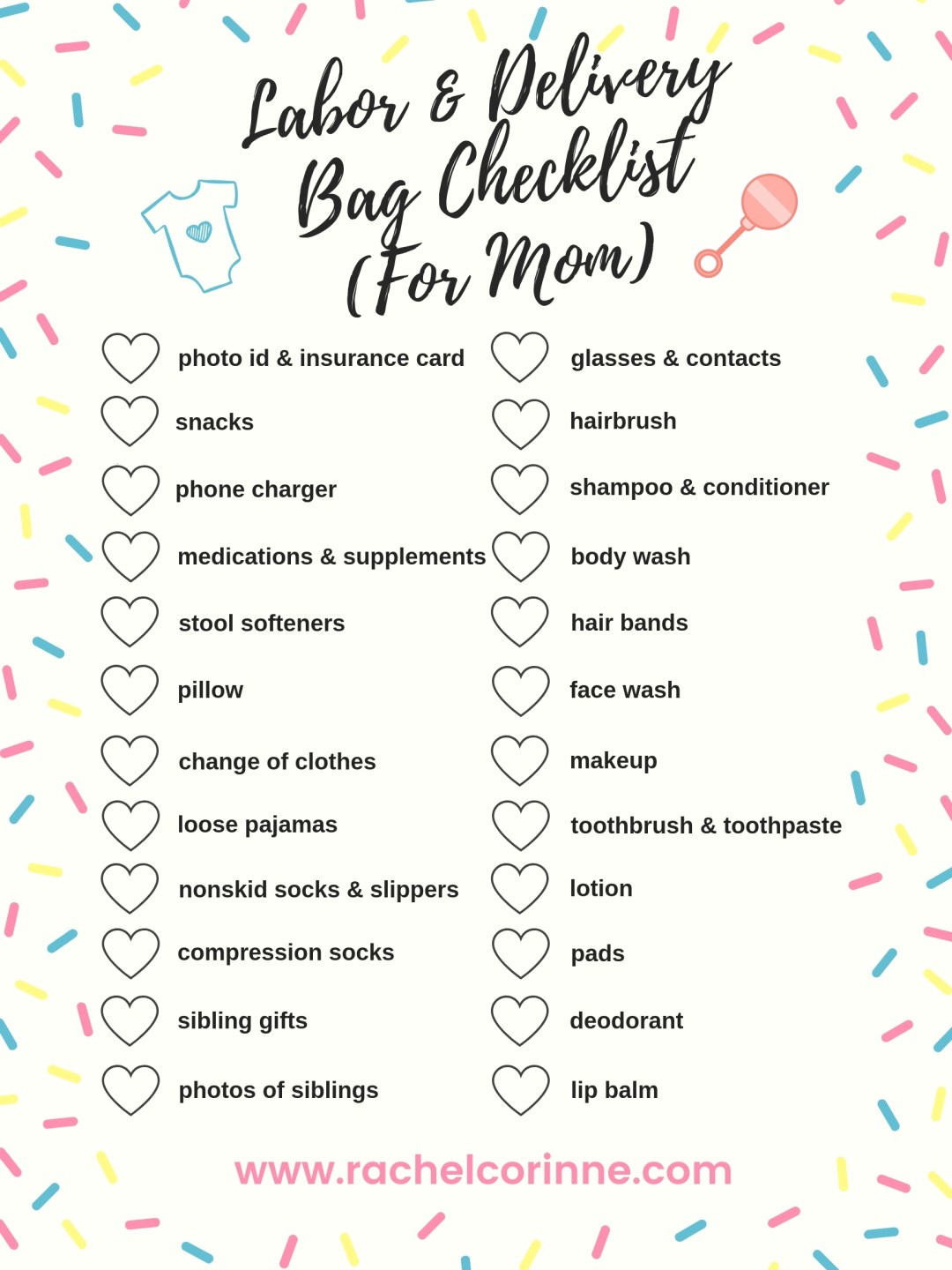 Labor And Delivery Bag Checklist