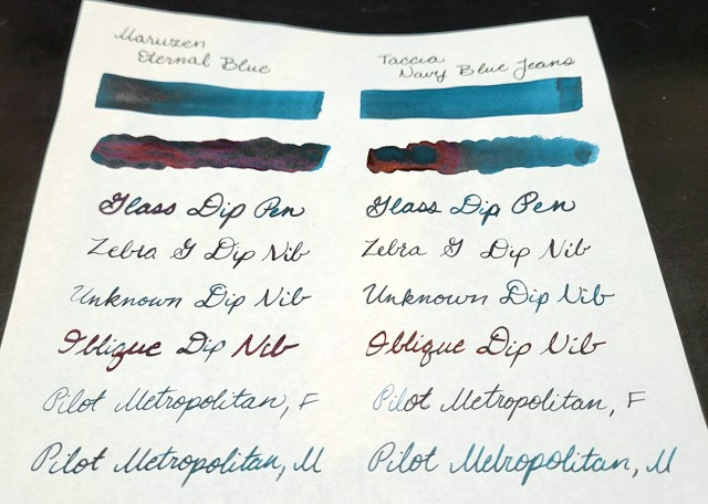 Photo of  comparison swabs showing sheen.