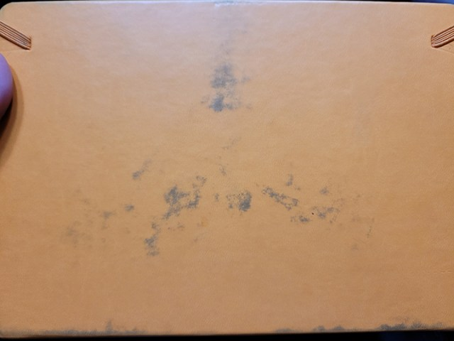 Back of Rhodia Goalbook showing staining