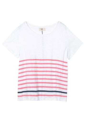 Hush Boxy Striped Slub T-Shirt