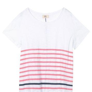 Hush Boxy Striped Slub T-Shirt