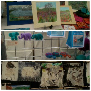 Some of the amazing needle felted creations