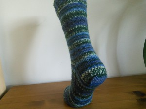 Arne and Carlos sock with square heel ©Rachel Gibbs