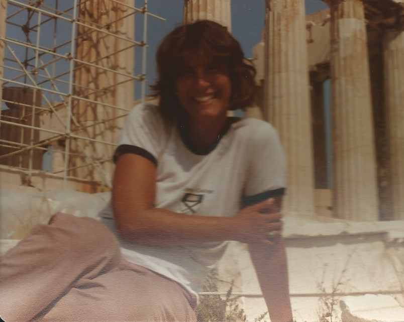 me in Athens, backpacking around Europe after my adventures in France