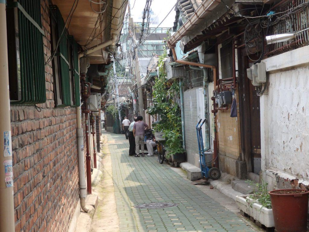 a street in Ikseon Hanok Area