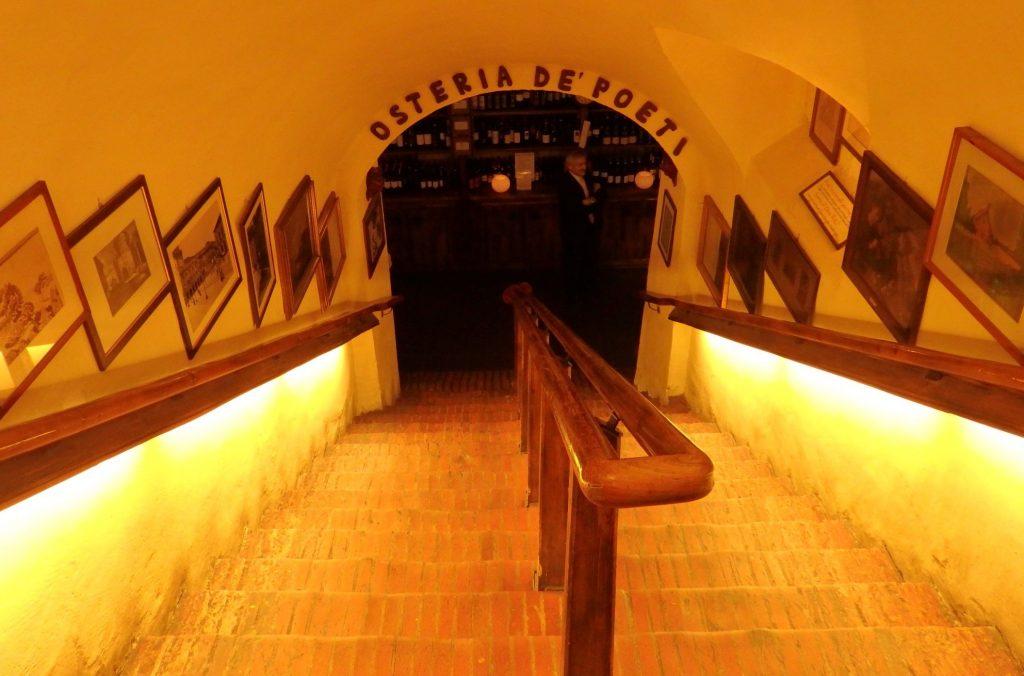 inside the entrance to Osteria De Poeti in Bologna, Italy