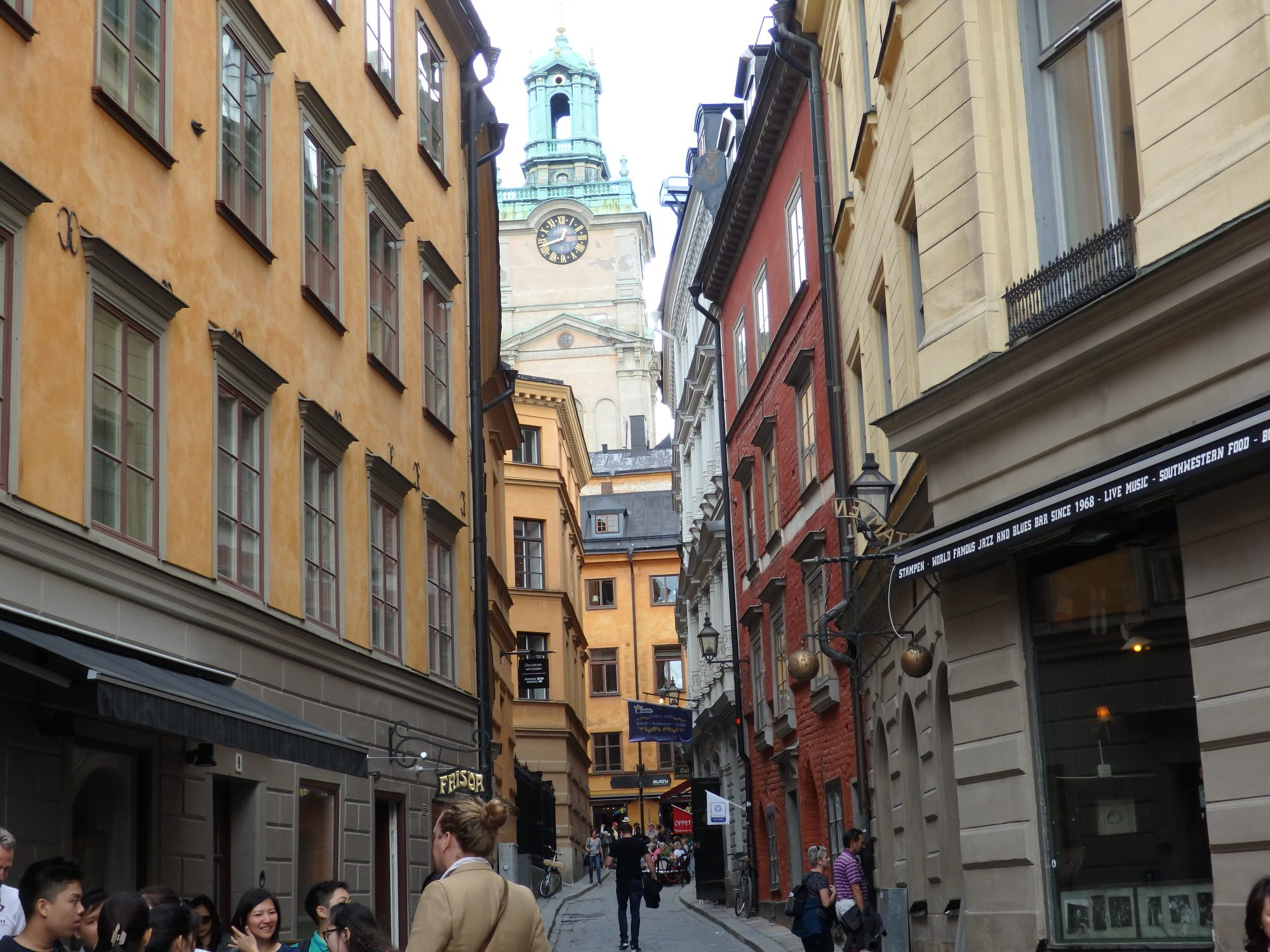 a pretty street in the oldest part of Stockholm, Gamla Stan