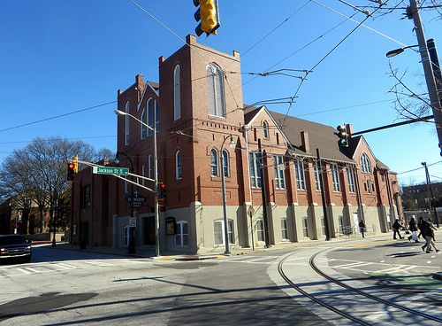 Ebenezer Baptist Church in Atlanta, Georgia. Image via Flickr by Sean_Marshall