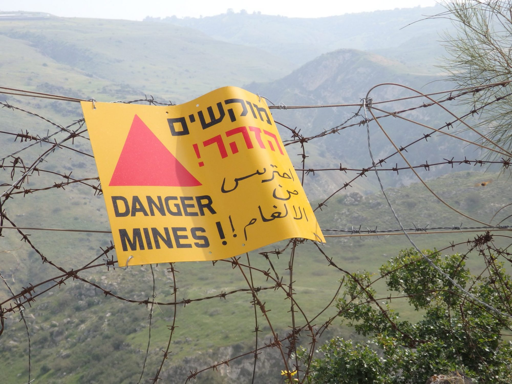 Besides beautiful scenery, in the Golan youll see many indications that a war was fought here not too long ago.