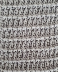Tunisian double crochet reverse stitch