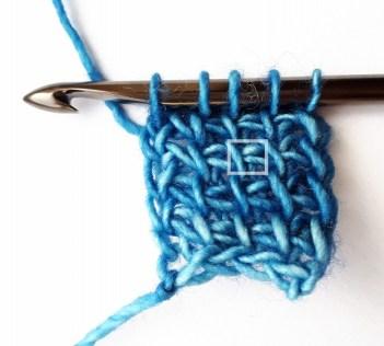 1 Tunisian simple stitch