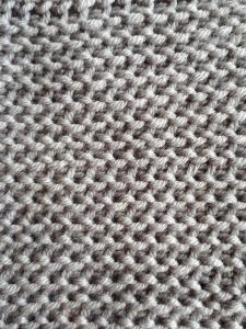 Tunisian purl simple stitch