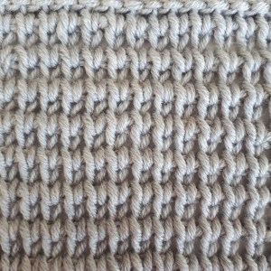 Extended Tunisian knit stitch