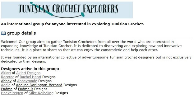 Ravelry group Tunisian crochet explorers