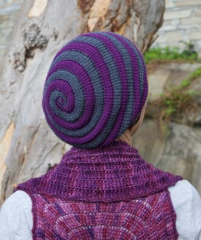 Whirligig hat, Tunisian crochet design by Abbeymade