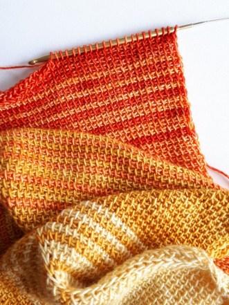Crochet tunisien en Malabrigo Silky merino