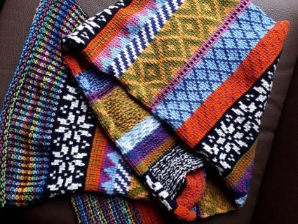 Fair Isle Tunisian crochet scarf, patron en anglais de  Hayley Joanne Robinson