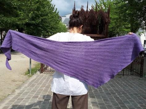 For intérieur (Deep down), Tunisian crochet shawl, pattern by Rachel Henri