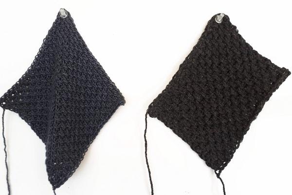 drape or no drape in Tunisian crochet