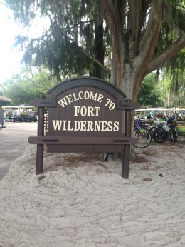 Arriving at Fort Wilderness for breakfast.