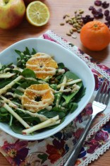 Spinach & Arugula Salad with Tahini-Lemon Dressing