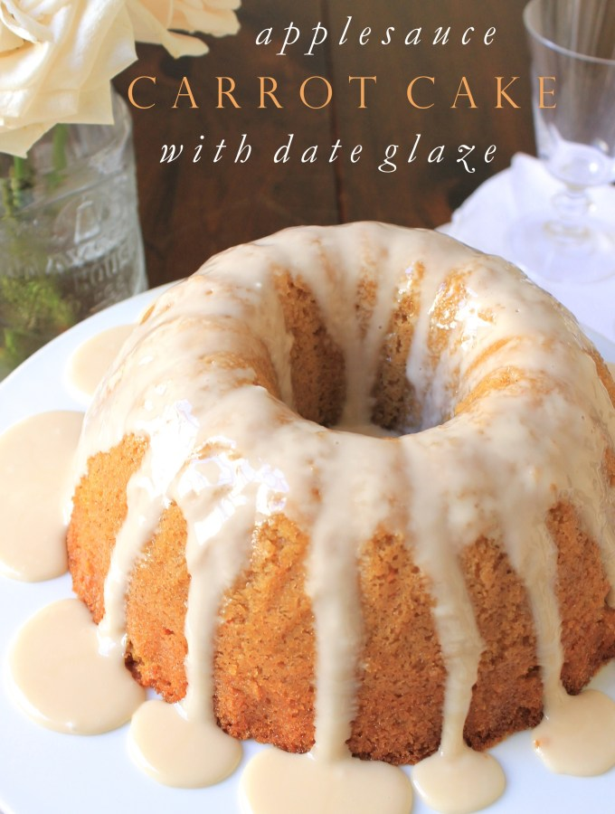 The Best Applesauce Carrot Cake with Date Glaze