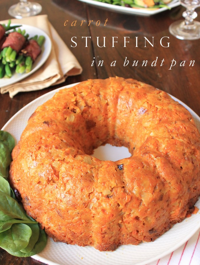Carrot Stuffing in a Bundt Pan