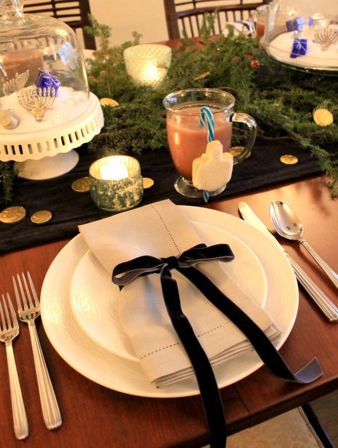 Chanukah Decor and Table Setting