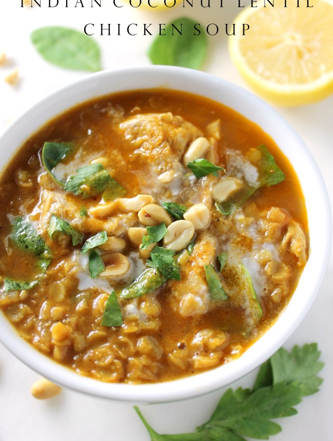 Indian Lentil Soup with Coconut and Chicken