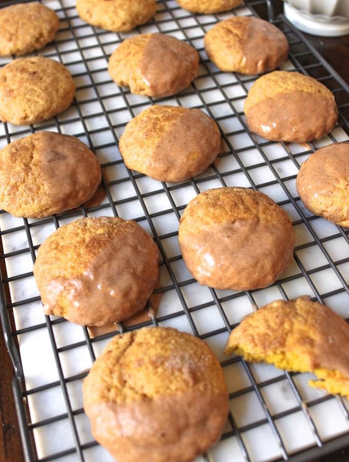 Dairy-Free Pumpkin Snickerdoodle Cookies