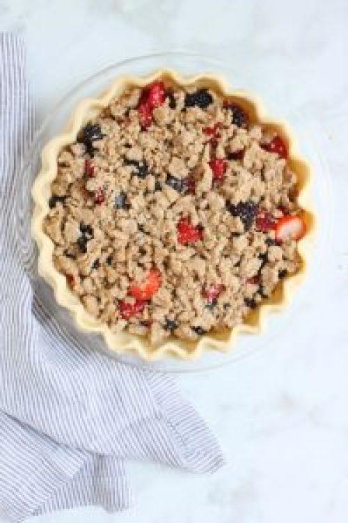 Berry Crumble Pie