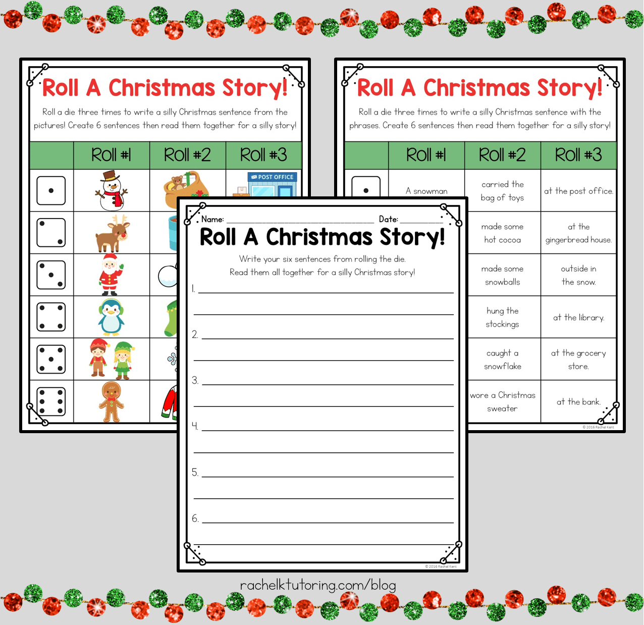 Free Christmas Writing Activity