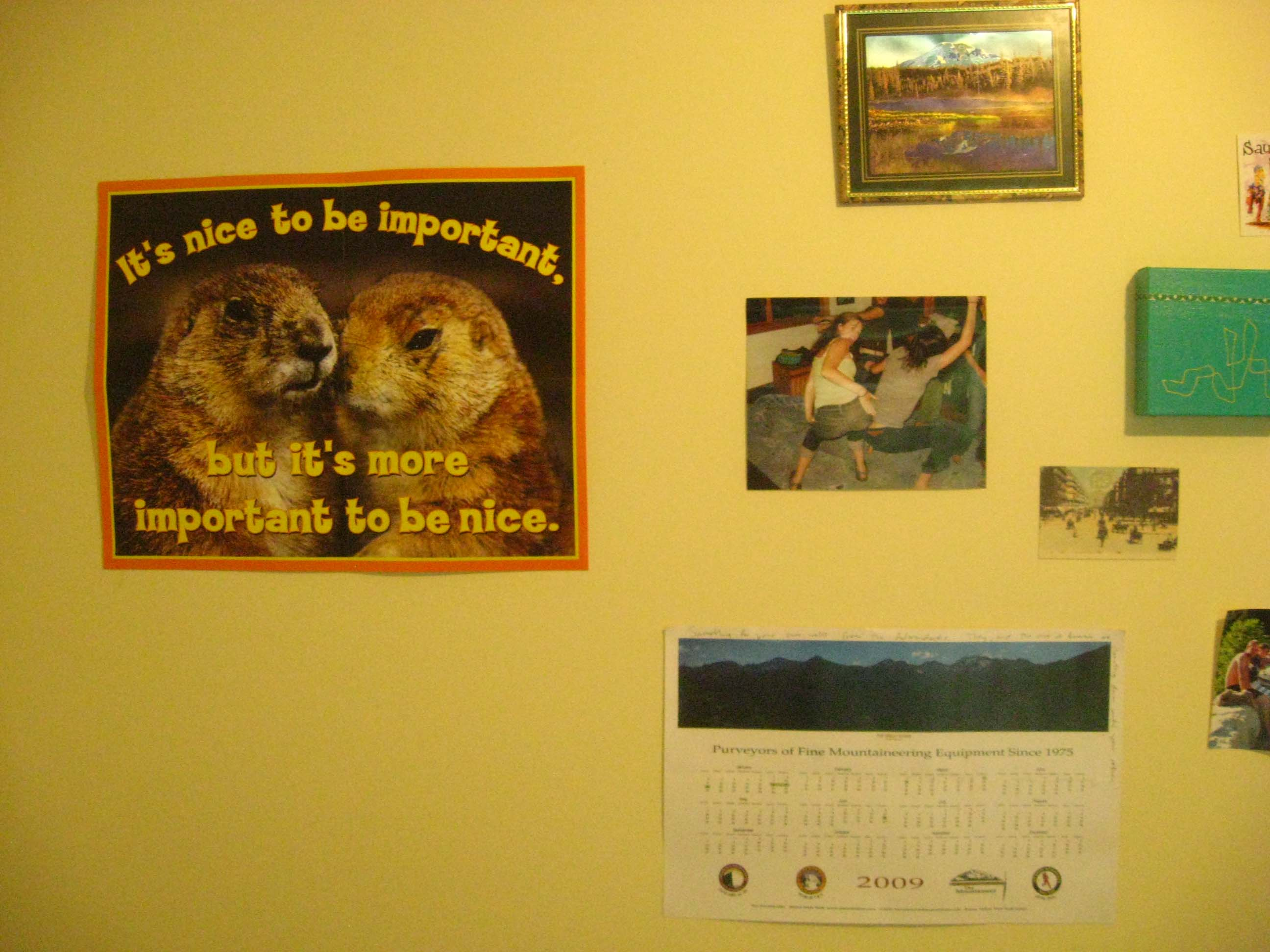 """""""A lovely poster from Dabz, Pictures from Dabz, a calendar from Nicky..."""""""