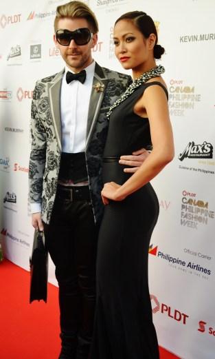 Jon de Porter (Jewelry designer) and Keisha (model)