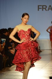 Miss Universe Canada 1st Runner Up Kesiah Papasin wears Francis Libiran