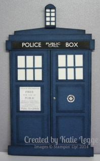 Stampin' Up! Dr Who Tardis Card | Created by Katie Legge rachelleggestampinup.wordpress.com #DrWho #Tardis