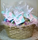 Stampin' Up! Easter Bunny Tag - Baster Full of Easter Egg Treat Bags, Decorated with Bunny Tags | Created by Katie Legge rachelleggestampinup.wordpress.com #Easter #Bunny #StampinUp #PunchArt