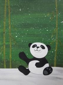 Panda in the snow