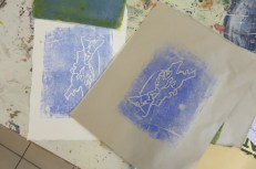 Attenborough Arts Centre Mono printing 6