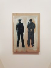 'Two policemen' (2007), oil on canvas, as part of 'One Man' by Liu Zhuoquan at Niagara Galleries, Melbourne