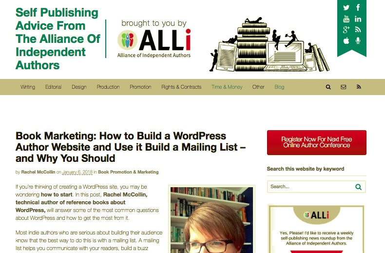 My article on WordPress for the ALLi blog