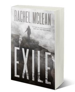 Exile by Rachel McLean a revenge thriller set in a flooded BRitain