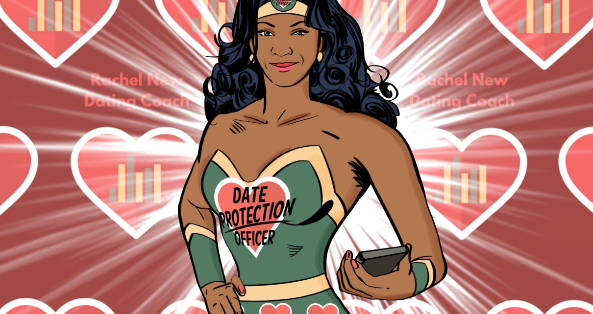 date protection officer looking like Wonder Woman