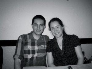 Adam & Rachel at our Engagement Dinner